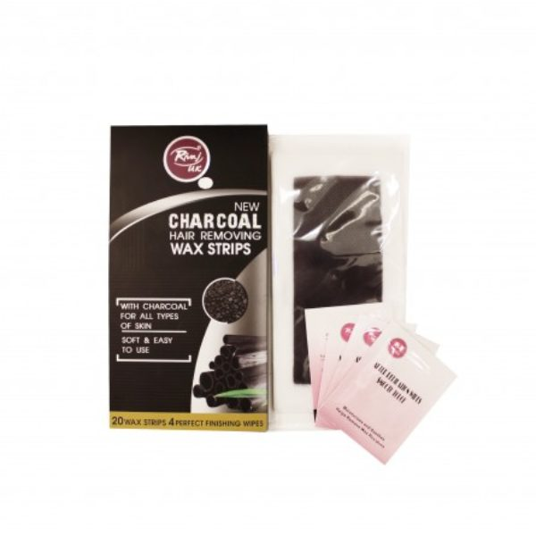 Rivaj Uk Charcoal Body Wax Strips - 20 + 4