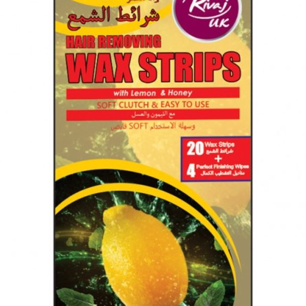 Rivaj Uk Lemon & Honey Body Wax Strips - 20 + 4