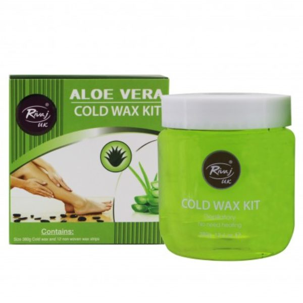 Rivaj Uk Aloe Vera Cold Wax Kit - 380G