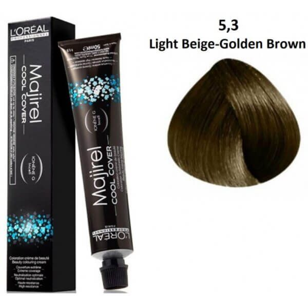Loreal Professionnel Majirel Cool Cover Light Brown Gold Beige