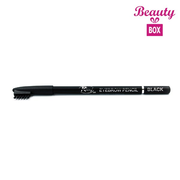 Rivaj UK Eyebrow Pencil With Comb - Black